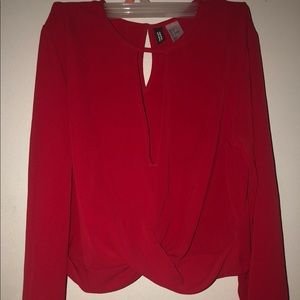 Red Date Night H&M Shirt